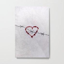 heart in danger Metal Print