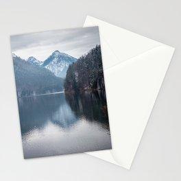 Beautiful lake, Bavarian alps Stationery Cards