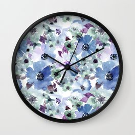 FLOWERS WATERCOLOR 20 Wall Clock