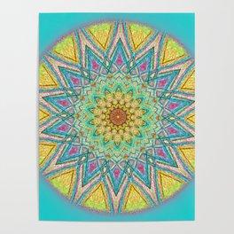 Burst Mandala 0118 Poster