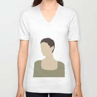 les miserables V-neck T-shirts featuring Fantine - Anne Hathaway - Les Miserables by Hrern1313