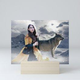 Gothic Princess & Wolf Mini Art Print