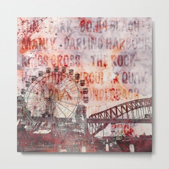 Sydney Luna Park Metal Print