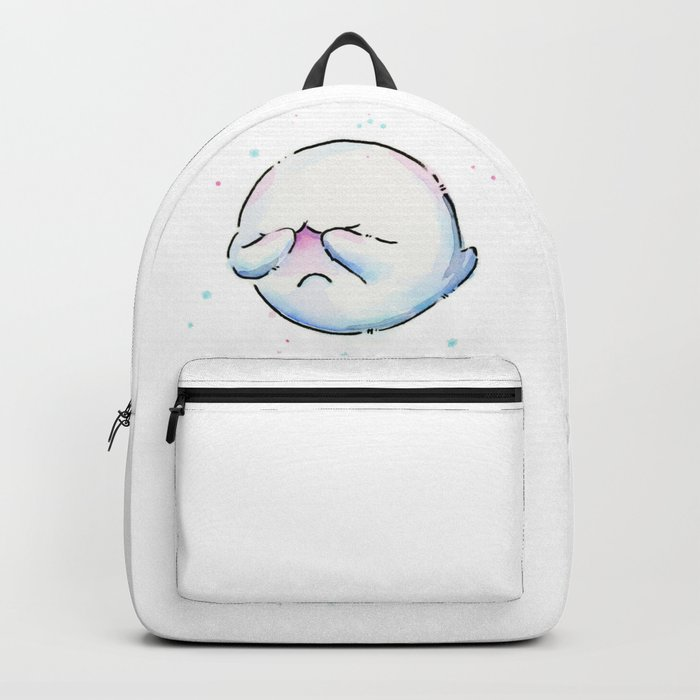 Boo Ghost Mario Watercolor Backpack