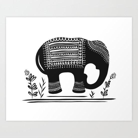 Lucky Elephant Art Print