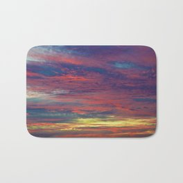 Cotton Candy coloured sky Bath Mat