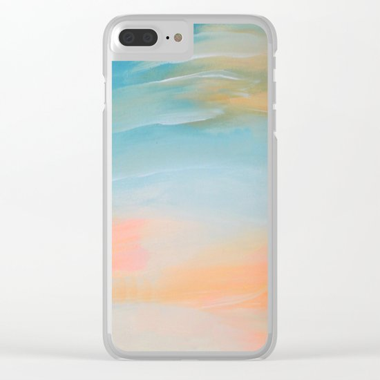 Fresh Colors Painterly Abstract Clear iPhone Case