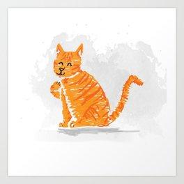 Sassy cat Art Print