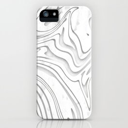 Grunge Galaxy Waves Pattern iPhone Case