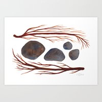 Sticks & Stones No. 2 Art Print