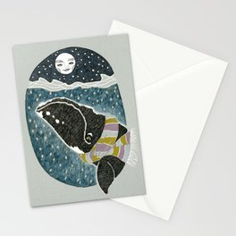 Whale and the Moon Stationery Cards