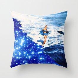 la playa  Throw Pillow