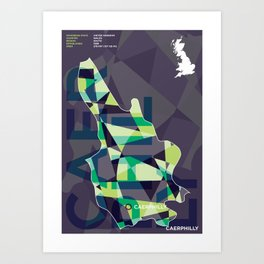 Caerphilly county poster Art Print