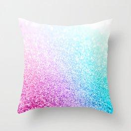 Uniorn Sparkle Pink Lavender Blue Seafoam Throw Pillow