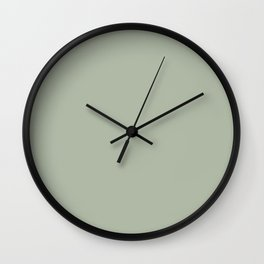Soft Pastel Sage Green Gray Solid Color Pairs To Behr's 2021 Trending Color Jojoba N390-3 Wall Clock