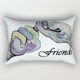 ASL Friends Denim Coloring Rectangular Pillow