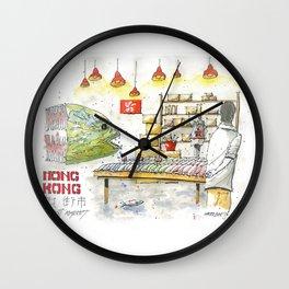 Hong Kong Fish Market Wall Clock