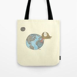 One Delusionary Loon Lands in the Pocket of the Earth Tote Bag