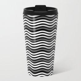 Black and White Graphic Metal Space Travel Mug