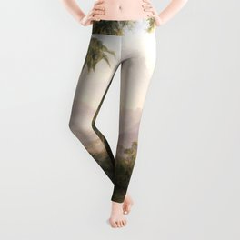 Garden of Eden Paradise with Penitent Adam and Eve landscape painting by Thomas Cole Leggings