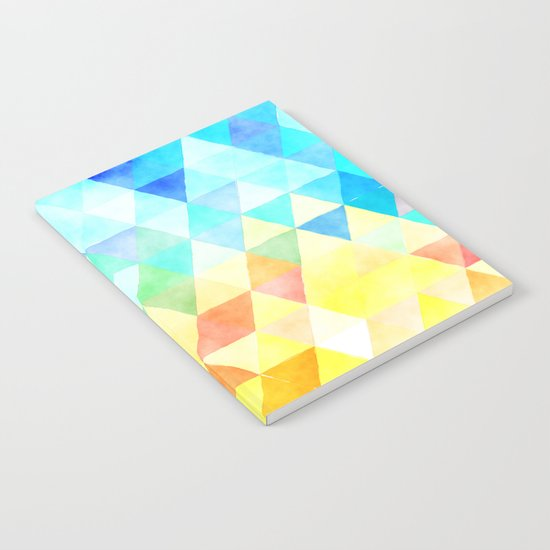 Vibrant Triangles Pattern 01 Notebook
