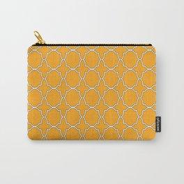 Orange Quatrefoil Pattern Carry-All Pouch