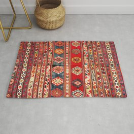 West Anatolian  Antique Turkish Kilim Print Rug
