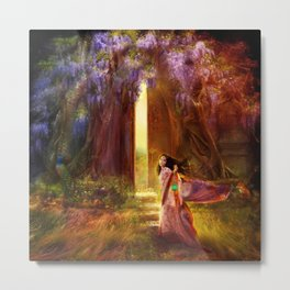 A Knock At The Door Metal Print