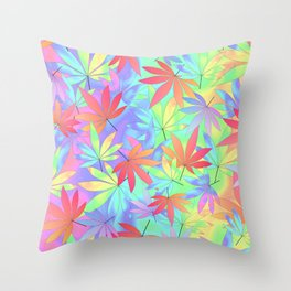 Tripping Weed Throw Pillow