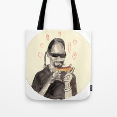 Snoop Dogg in love with a Hotdog Tote Bag