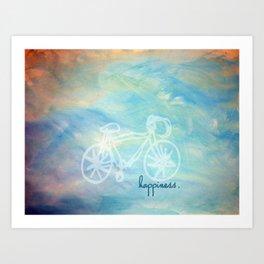 a happy bike ride. Art Print