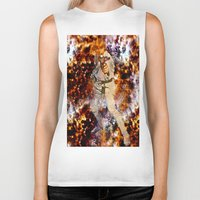 luke hemmings Biker Tanks featuring Luke Skywalker  by Saundra Myles