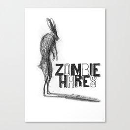 Zombie Hare Canvas Print