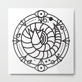 SANDWORM: ARRAKIS BADGE Metal Print
