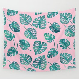 Tropics (pink) Wall Tapestry