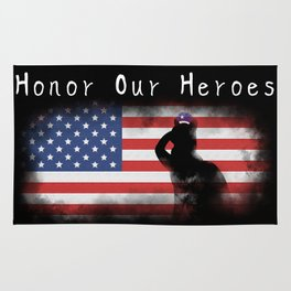 Honor Our Heroes On Memorial Day Rug