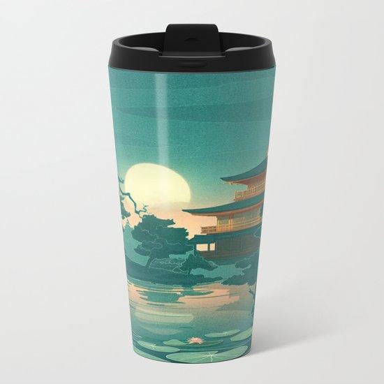 Birds Ocean House Metal Travel Mug
