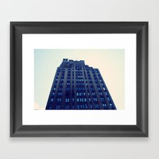 NYC Blue Framed Art Print