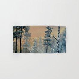 Winter Woods, Luna Smith, Scottish art, oil painting, Luart Gallery Hand & Bath Towel