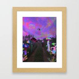 On the Path Framed Art Print