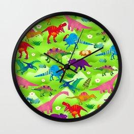 Joyful dinosaur world - GBG Wall Clock