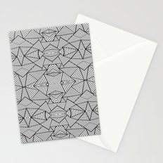 Abstract Mirror Black on White Stationery Cards