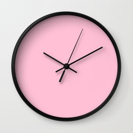 Hibiscus Solid Pink Bloom Accent Wall Clock