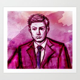 Dean in Pink Art Print