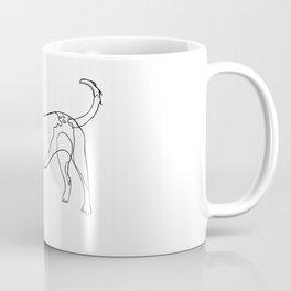Minimalist line art drawing of Year of the Dog Coffee Mug