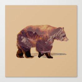 Glacier Grizzly Canvas Print