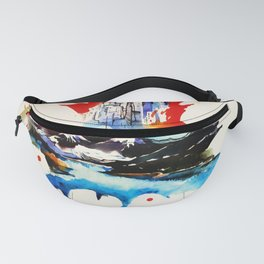 Vintage Canada Maple Leaf Travel Love Watercolor Fanny Pack