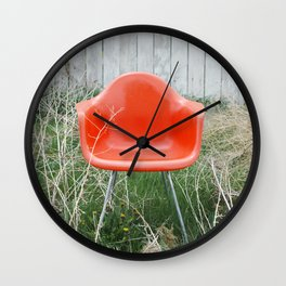 Orange Chair Wall Clock