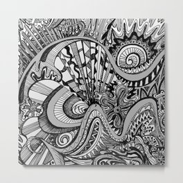 White Knuckled Scream Metal Print