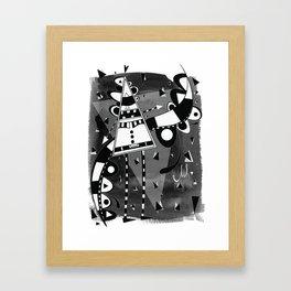 Sir Triangle Black Framed Art Print